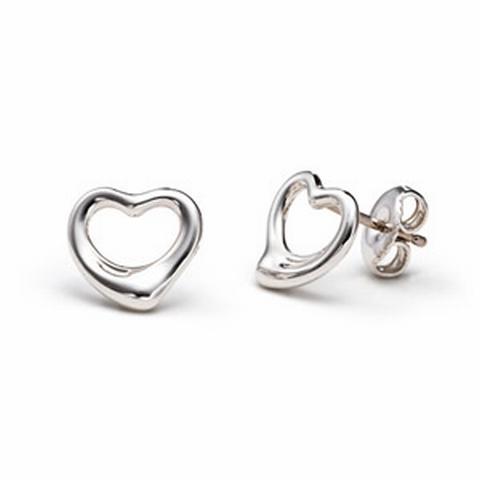 Zilveren Hart oorbellen