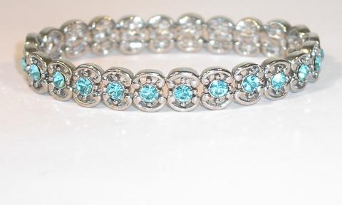 Armbandje kristal 8270 | Armbandje met turquoise kristal