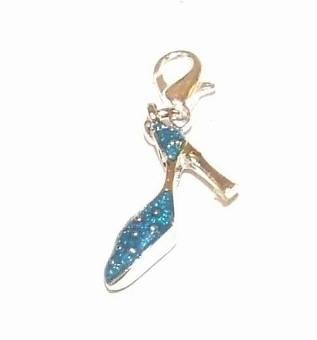 Flying charm metalen pump blauw