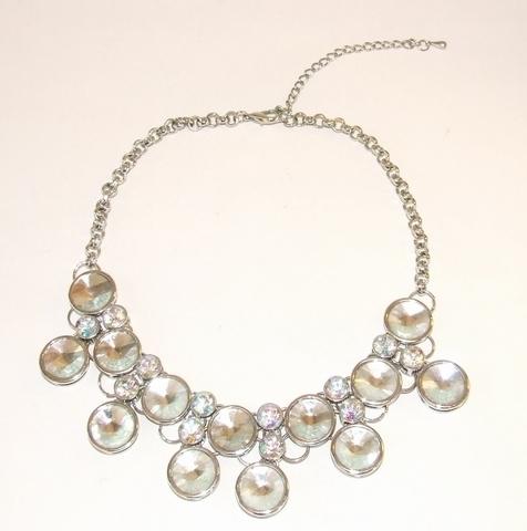 Collier strass 8668 | Sierlijk collier met strass stenen
