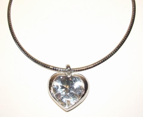 Chocker hart 009965 | Schitterend chocker met strass hart