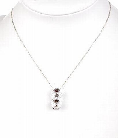 Collier strass 23232 | Fijn collier strass stenen helder