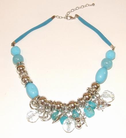 Ketting turquoise 99327 | Ketting kralen/bedels turquoise