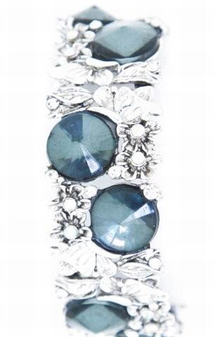 Armband grijs strass 33002 | Armband met grijze strass