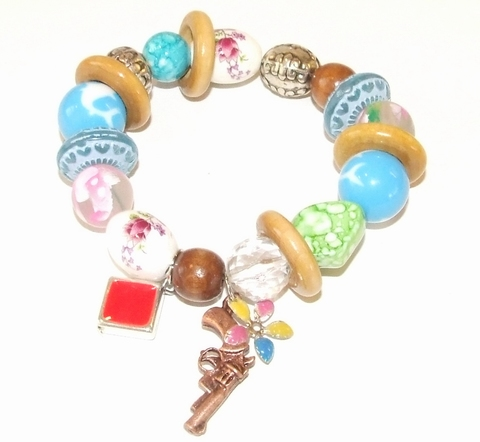 Armband met bedels 20101 | Armband  met bedels multi colour