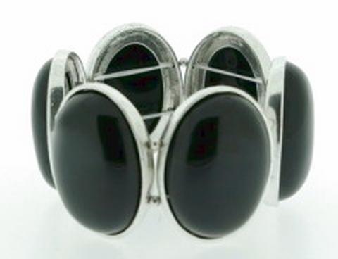 Armband natuurstenen 33333 | Armband met natuurstenen zwart