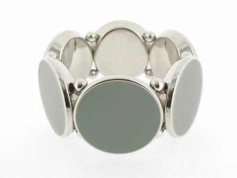 Armband grijs 990651 | Trendy grijze armband
