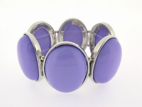 Armband natuursteen 980452   Armband natuursteen paars/lila