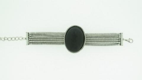 Armband natuursteen 474772 | Armband met natuursteen zwart