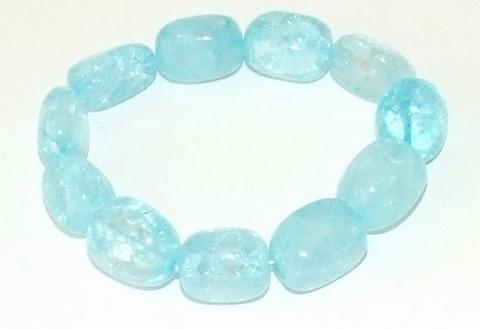 Armband turquoise 2953 | Glaskralen armband turquoise