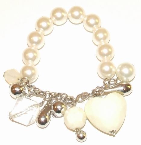 Armband parelmoer 0711 | Armband met bedels parelmoer