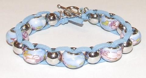 Armband Pandora 19004 | Pandora stijl glaskralen blauw