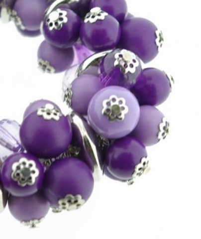 Armband paars 21212 | Trendy paarse kralen armband