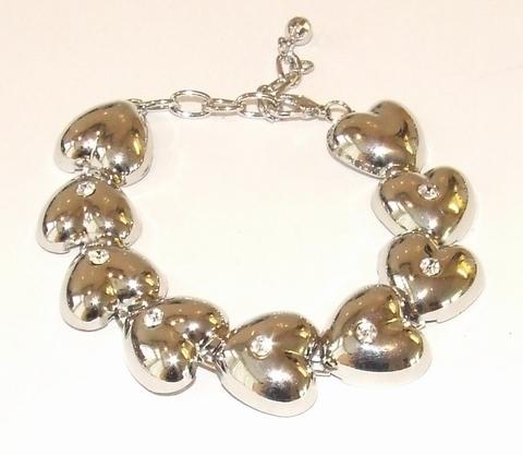 Armband hartjes 88993 | Armband hartjes met strass