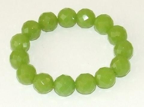 Armband groen glaskralen 90875 | Groene glaskralen armband