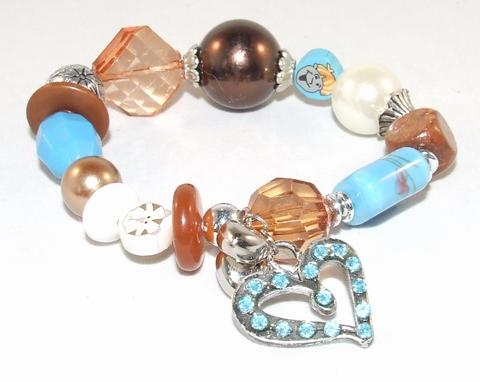 Armband multi colour 8712 | Armband met bedel multi colour