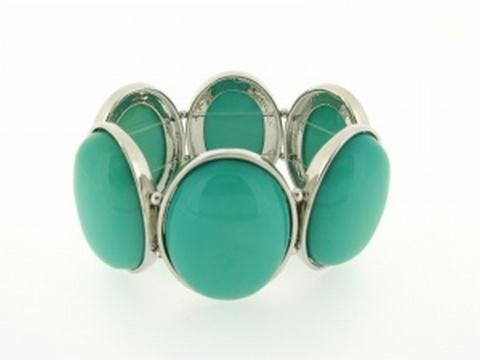 Armband groen 029564 | Armband natuursteen turquoise/groen