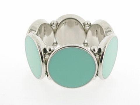 Armband turquoise+groen 029563 | Armband turquoise/groen