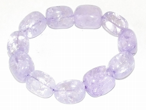 Armband glaskralen paars 88014 | Paarse glaskralen armband