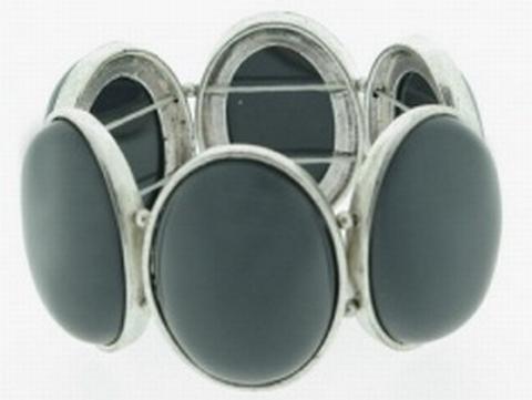 Armband natuursteen 33661 | Armband met natuurstenen grijs