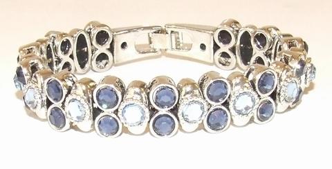 Armband Josh 50029 | Josh stijl armband met strass blauw