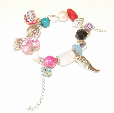 Armband multi colour 11909 | Armband met bedels multi colour