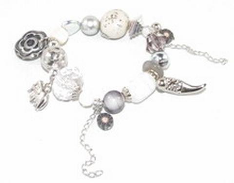 Armband bedel 67671 | Armband met kralen en bedels