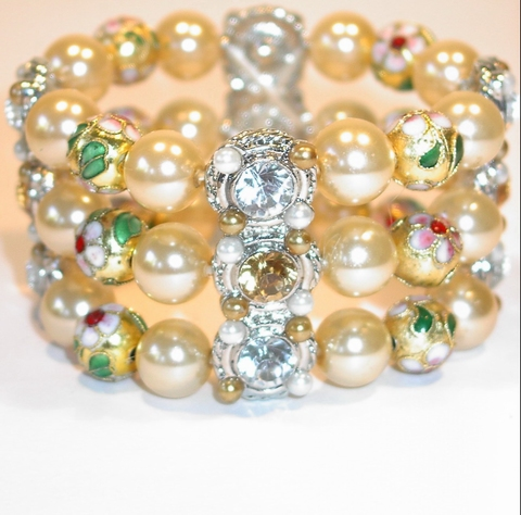 Armband parels 7919 | Armband parels/handgemaakte kralen