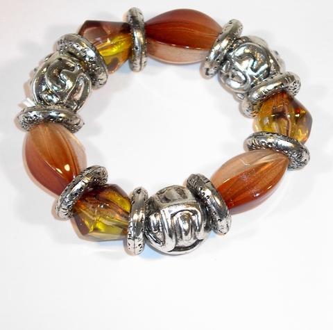 Armband bruin 1000 | Trendy bruine armband met kralen