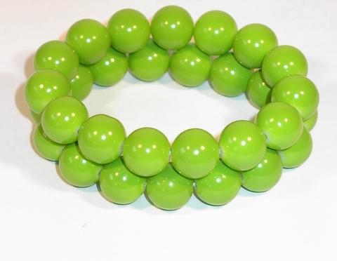 Armband fel groen 9534 | Armband met fel groene kralen