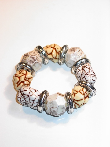 Armband kunststof 8277 | Armband met kunststof stenen