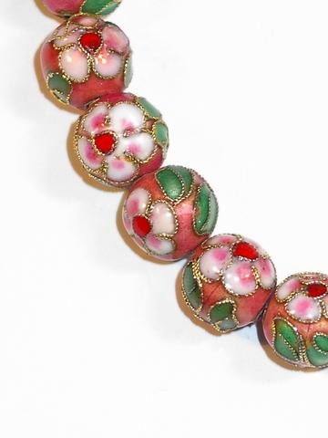 Armbandje oud roze 8486   Armbandje met kralen oud roze
