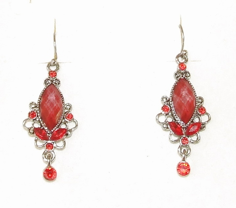 Oorbellen rood 33550 | Prachtige  rode oorbellen
