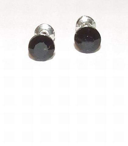 Oorknopjes strass zwart 91 | Zwarte strass oorknopjes
