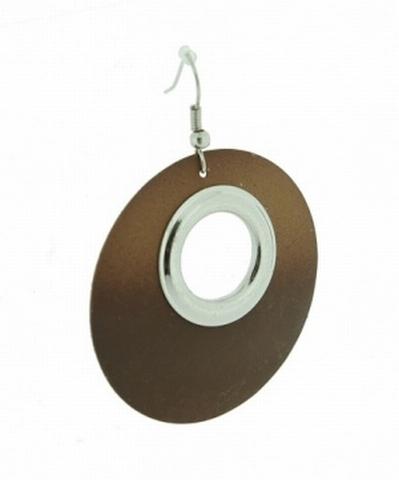 Oorbellen bruin 33993 | Oorbellen licht/donker bruin