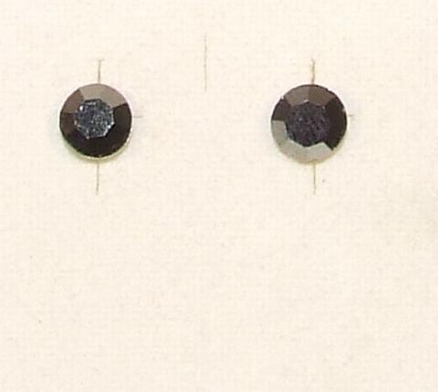 Oorknopjes grijs 66750   Oorknopjes mat grijze strass