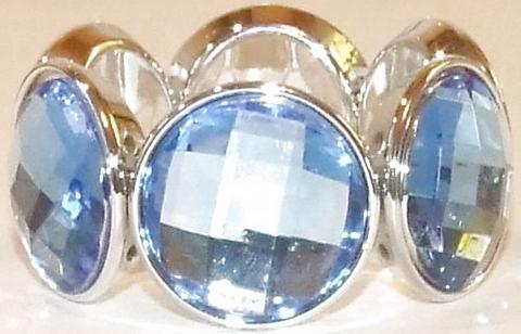 Armband blauw 03339 | Armband met blauwe strass stenen