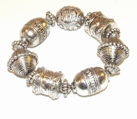 Armband kunststof 908765 | Armband kunststof kralen
