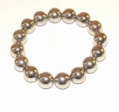 Armband zilver 254360 | Armband met kralen glanzend zilver