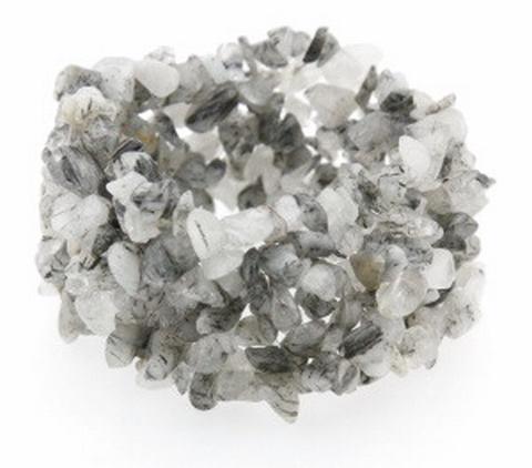 Armband zwart/grijs 44004 | Armband half edelstenen