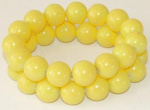 Armband hard geel 792311 | Hard gele armband 2 rijen kralen
