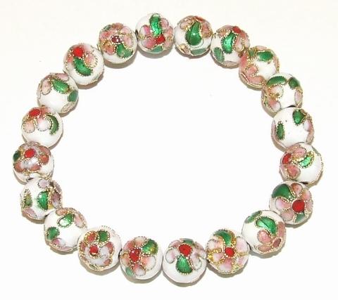 Armbandje wit 291939 | Armbandje met witte kralen
