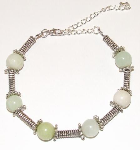 Armband Melk Jade 67001   Armband edelstenen/metaal groen
