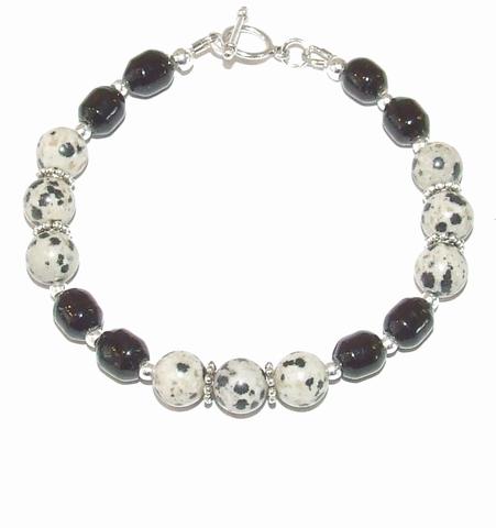 Armband Dalmatiër 00552 | Armband edelsteen/glas/metaal