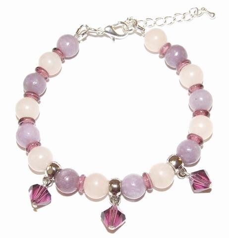 Armband Pink Avent 00222 | Armband natuursteen/glas/metaal