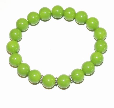 Armband groen 9511 | Groene armband glaskralen