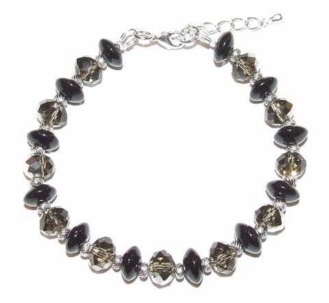 Armband kristal 94191 | Armband kristal/metaal/glas