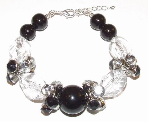 Armband parels 50508 | Opvallende armband parels/strass