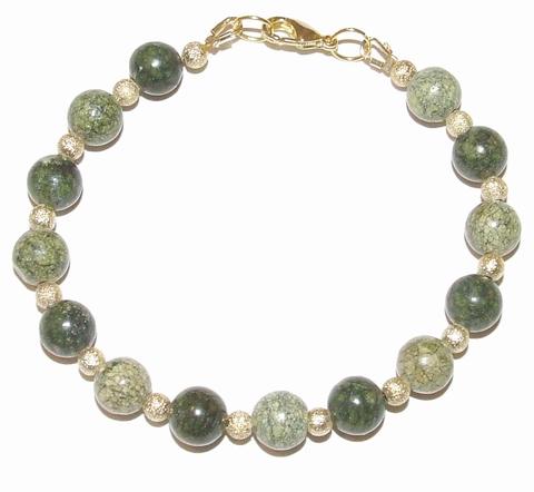 Armband groen 80010 | Armband met groene natuursteen