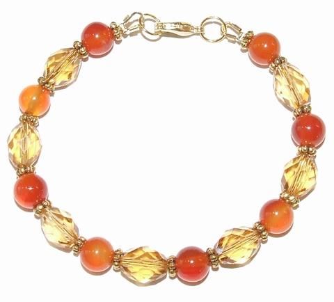 Armband Carneool 95170 | Armband edelsteen/kristal/metaal